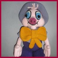Cerdo vestido amigurumi