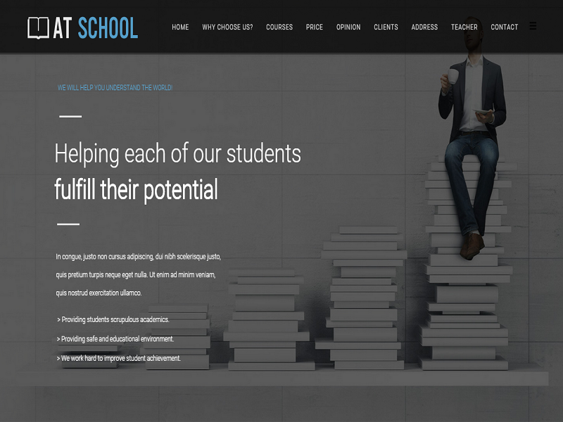 Freedownloadtemplates 11 best free joomla templates for education at school onepage joomla free template for education maxwellsz