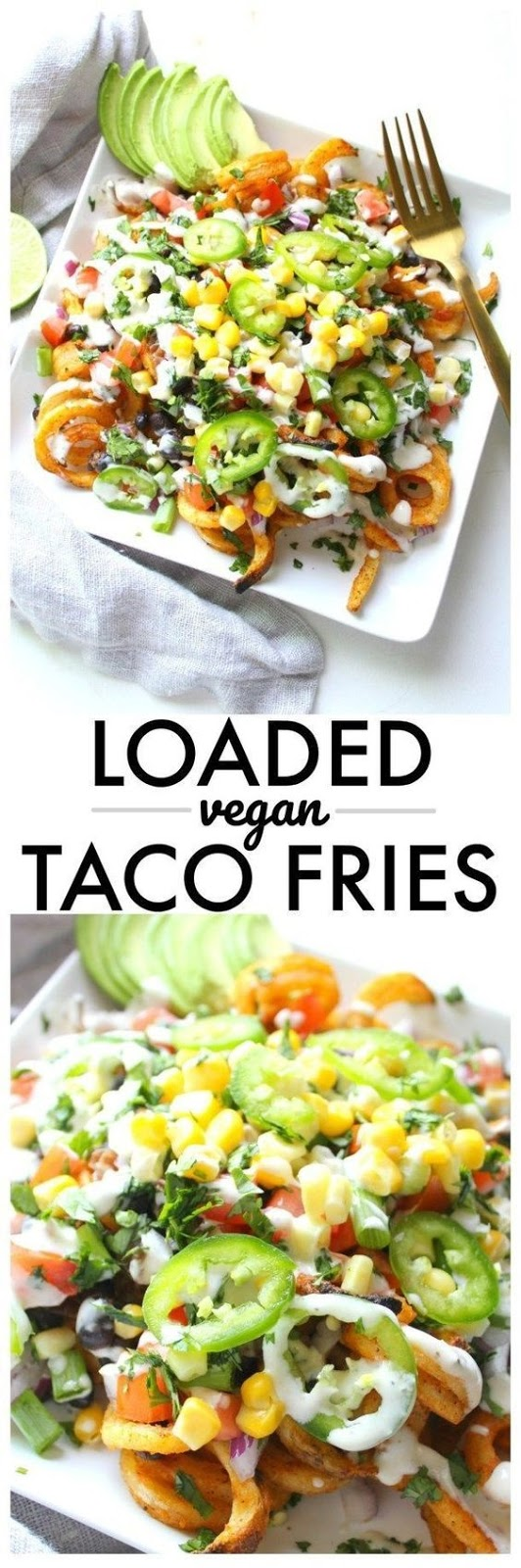 Loaded Vegan Taco Fries