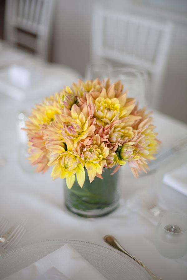 centros de mesa para boda color amarillo