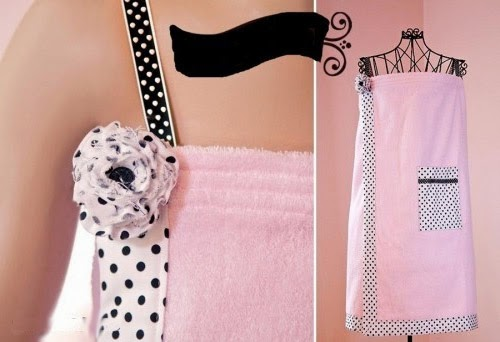 Банный халат - сарафан из полотенца