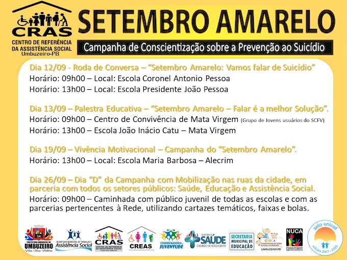 Prefeitura de Umbuzeiro realizará Campanha de Conscientização sobre a prevenção  ao suicídio