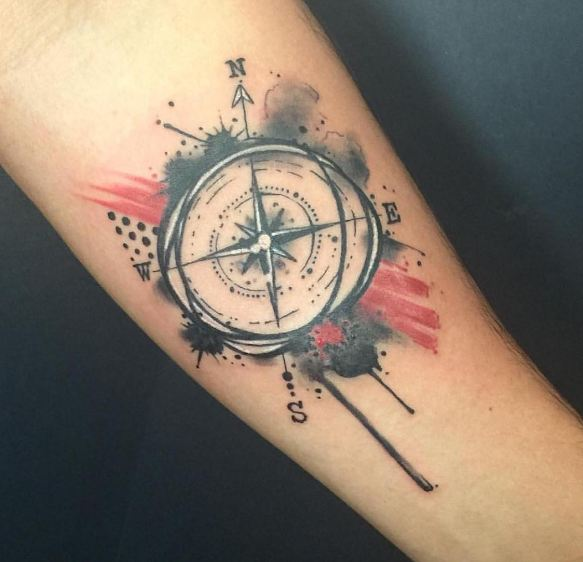 50+ Compass Tattoos For Men (2019) Designs & Meanings | Tattoo Ideas
