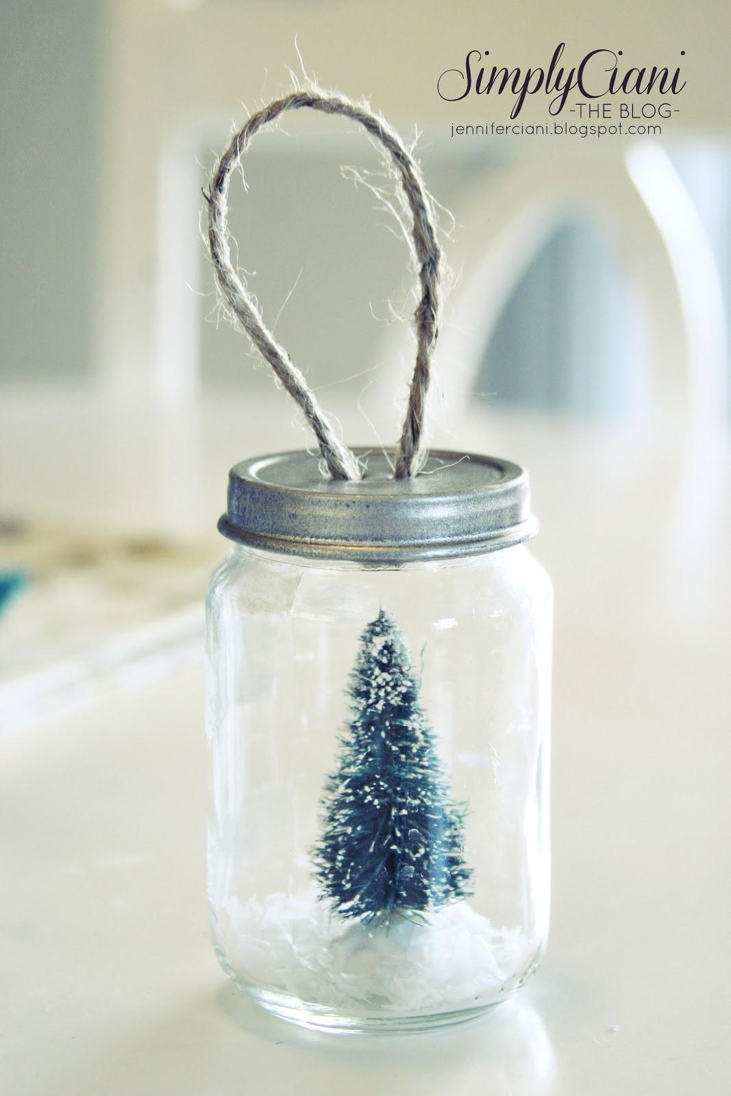 Diy Mason Jar Ornaments Simply Ciani