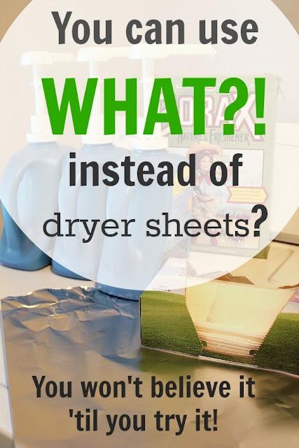 A dryer sheet option