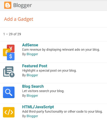 Add HTML/JavaScript gadget