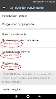 non aktifkan download otomatis wa