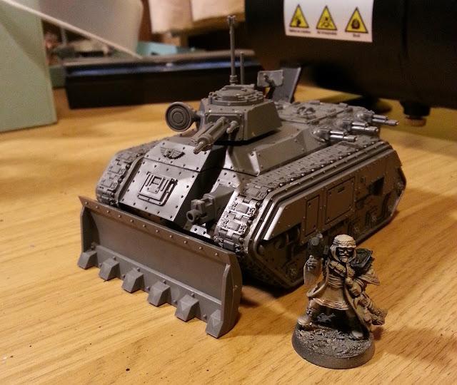 Imperial Guard Astra Militarum Chimera Tallarn Al'Rahem Company Commander Metal