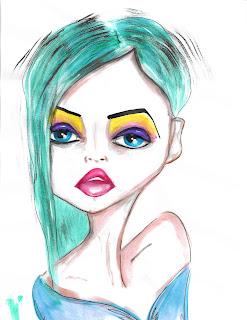Bebee Pino green watercolor girl