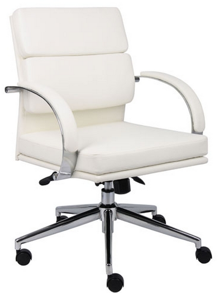Boss White or Black Leather Chair
