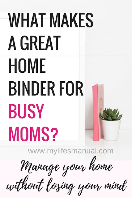 Home binder for busy moms