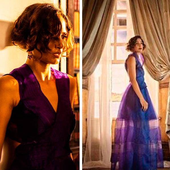Montagem com imagens do vestido
