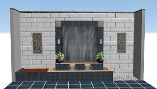 Desain water wall 3D