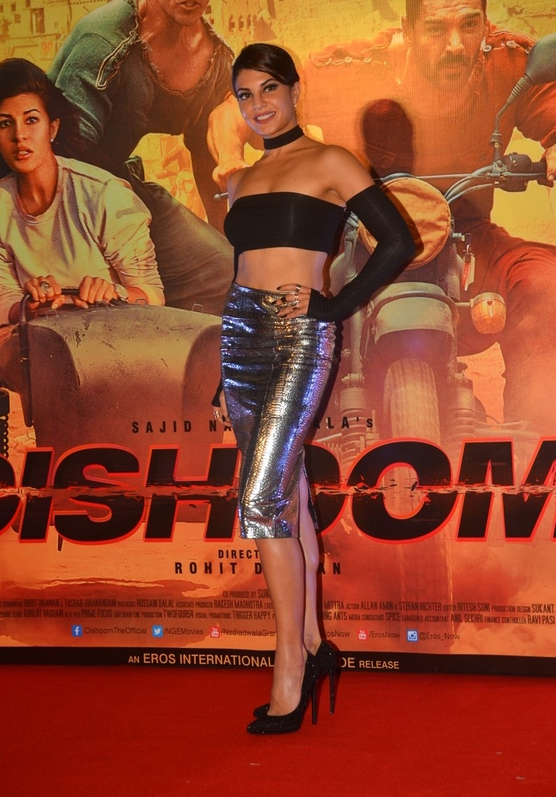 Jacqueline Fernandez in a Skin Tight Skirt and Black Crop Top Stunning Pics