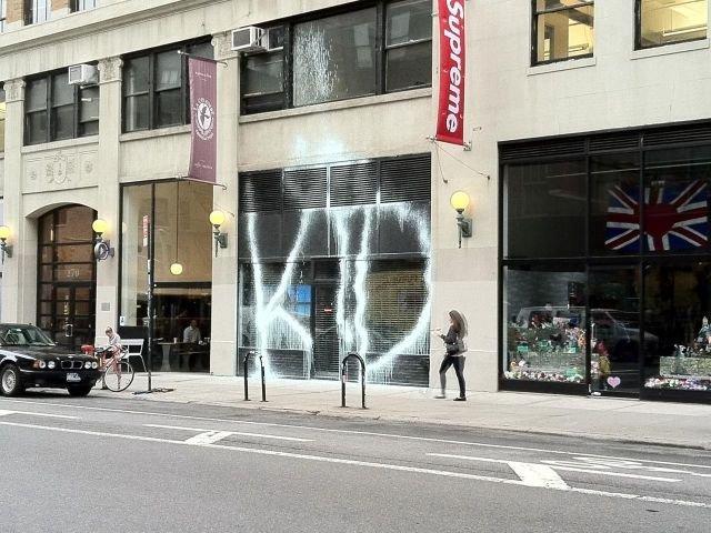 The Kidult Hits The Supreme Store, New York City | StreetArtNews | StreetArtNews
