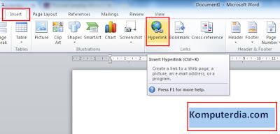 Cara Membuat Link Aktif Menuju Halaman Web Di Office Word 2010