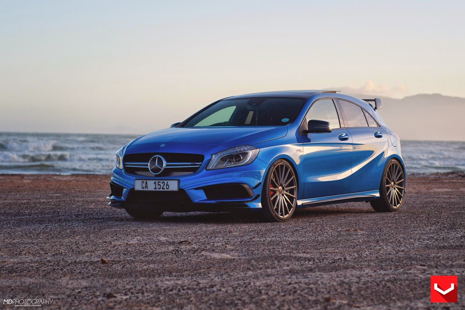 mercedes benz w176 a45amg 4matic on vossen vfs2 wheels. Black Bedroom Furniture Sets. Home Design Ideas