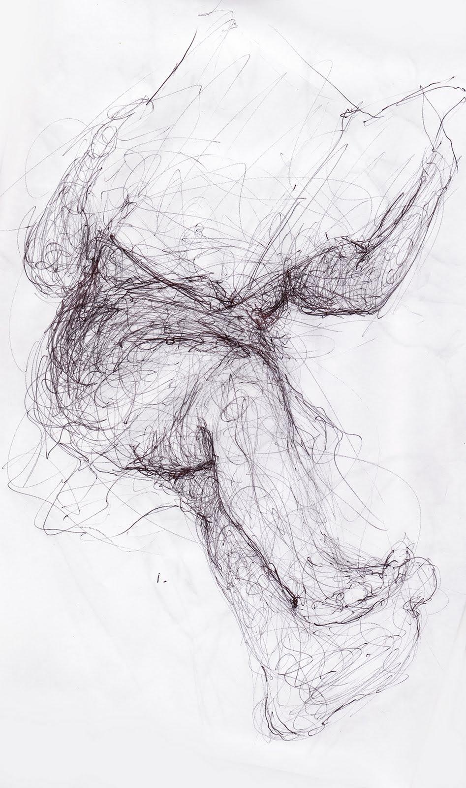 10 minute form studies in ink