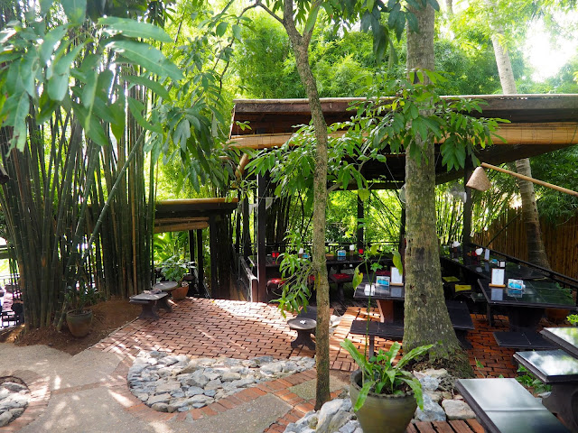 Jungle cafe in Luang Prabang, Laos