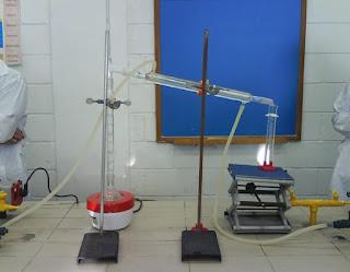 esquema aparelho destilaçao fracionada laboratorio
