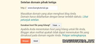Membuat Nama Domain Baru di Blogger