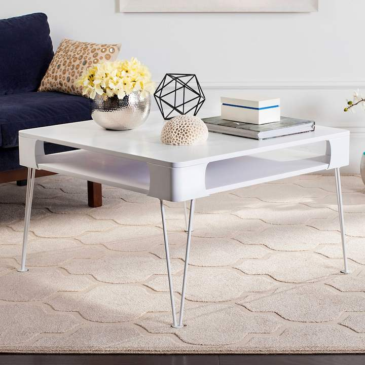 white mid-century modern coffee table