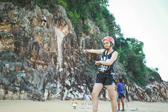 Rock Climbing at Club Med Cherating