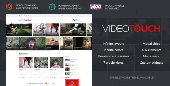 VideoTouch v1.8.1 – Video WordPress Theme Nulled
