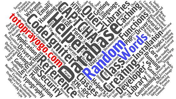 Membuat Random Words dengan Codeigniter