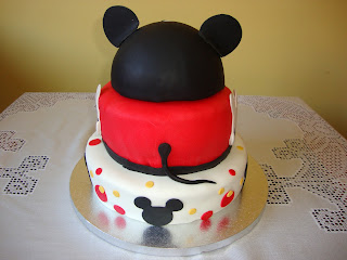 Lateral Tarta Mickey Mouse de pisos