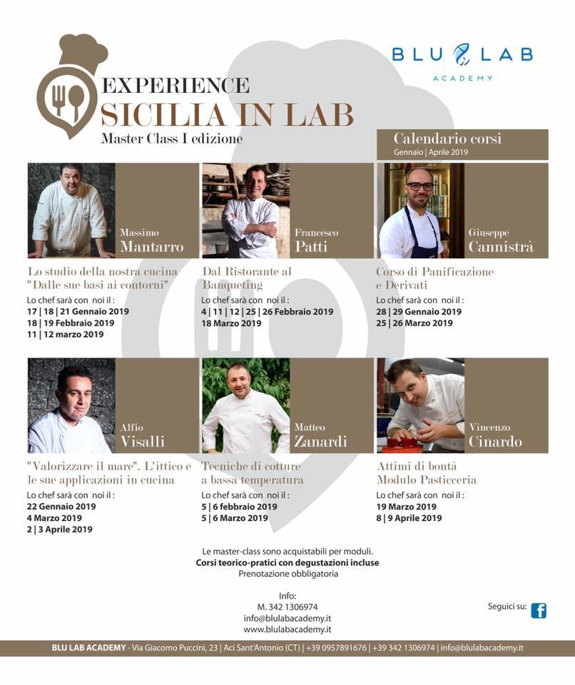 Blu Lab Academy Experience Sicilia in Lab – Master Class I Edizione