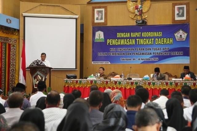 Aparatur Inspektorat se-Aceh Gelar Rapat KPTD 2017 di Takengon