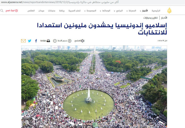 Al Jazeera: Jutaan Umat Islam Indonesia Reuni 212