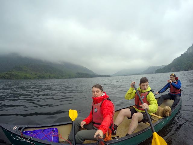 Canoe, canoeing, kayak, Ullswater, Glenridding, Lake District, Helvellyn, explore, adventure, mountains, fresh water, UK, England, Visit England, glenridding sailing club, sailing, dog on canoe, Canadian canoe, rent a canoe, How easy is it to canoe.