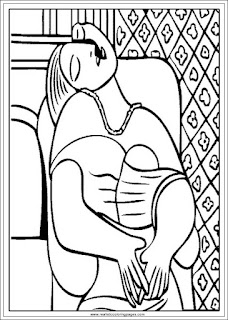 the dream art of pablo picasso coloring pages printable
