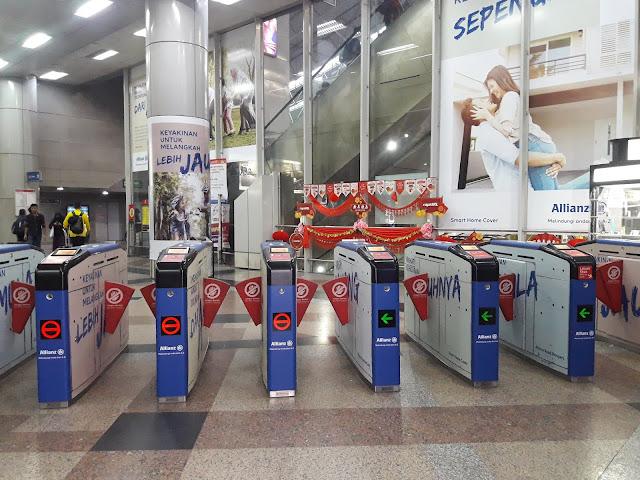 LRT Stasiun di Kualalumpur
