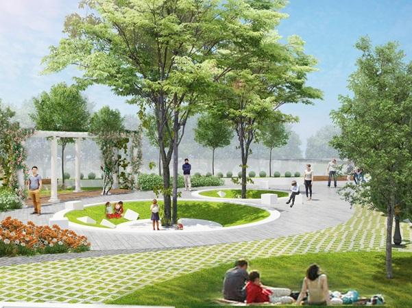 Không gian sống xanh tại Florence Mỹ Đình