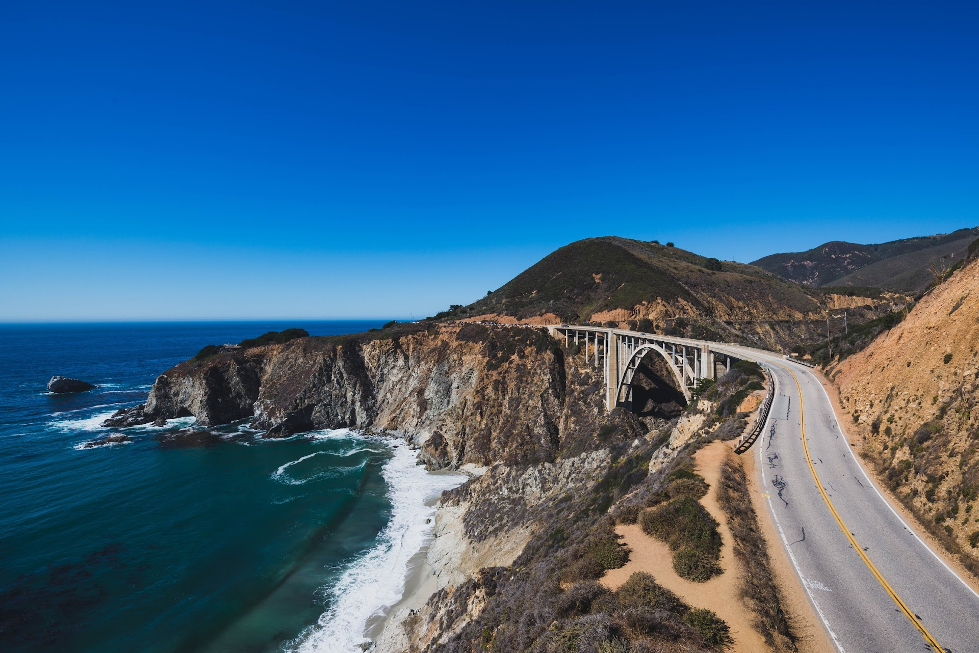 Bixby bridge, where to get the best photo of bixy bridge, big sur, travel blog, california, central coast, monterey county, see monterey, travel info, photography, landscape, daytime, scenic, big sur