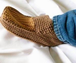 dia dos pais sapatilhas e pantufas de tricô e crochê