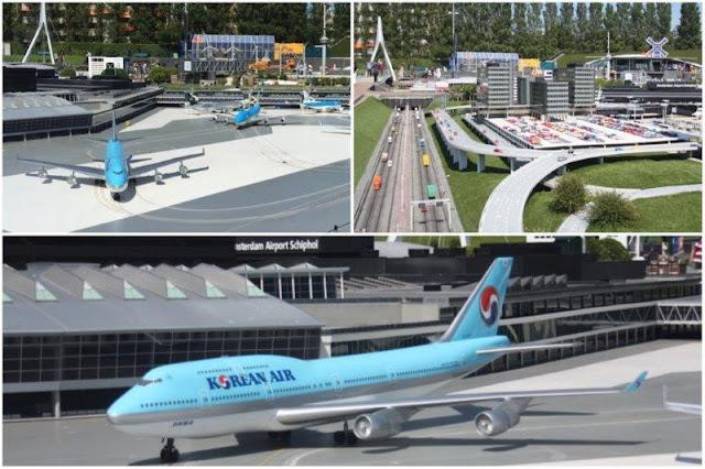 63 Aeropuerto Schiphol de Amsterdam en el parque Madurodam en La Haya Den Haag