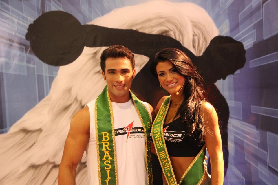 Junior Moreno, o Garoto Fitness Brasil 2012 e Marissol Dias, a Garota Fitness Brasil 2012