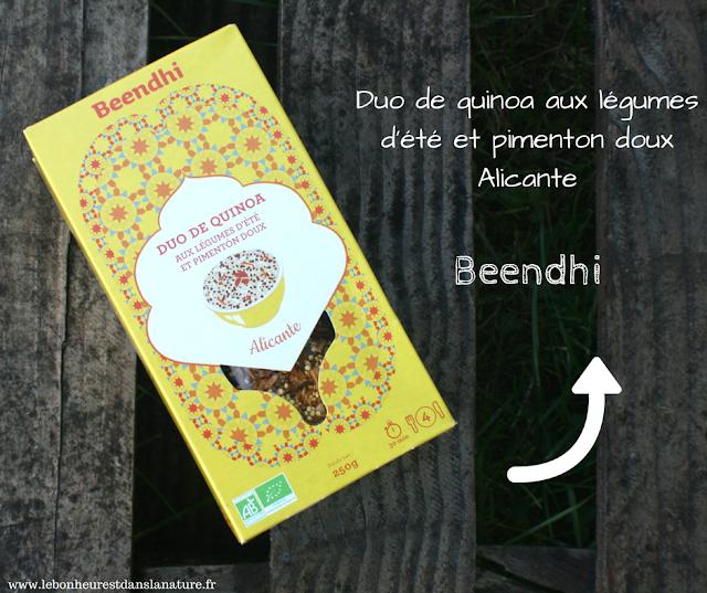 Duo de quinoa aux légumes d'été et piments doux Alicante Beendhi