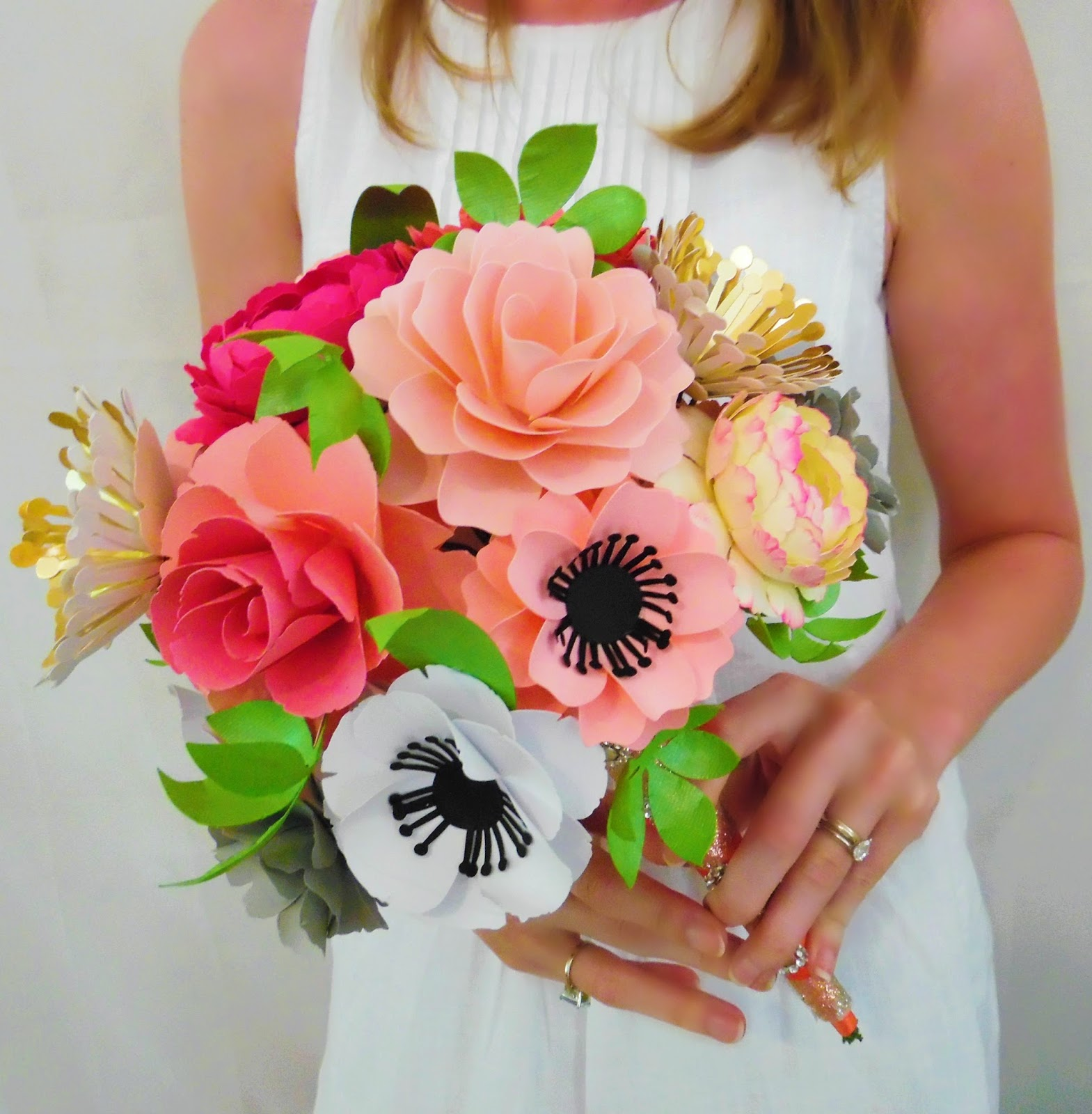 DIY Paper Flower Bouquet- Part 2 - Abbi Kirsten Collections