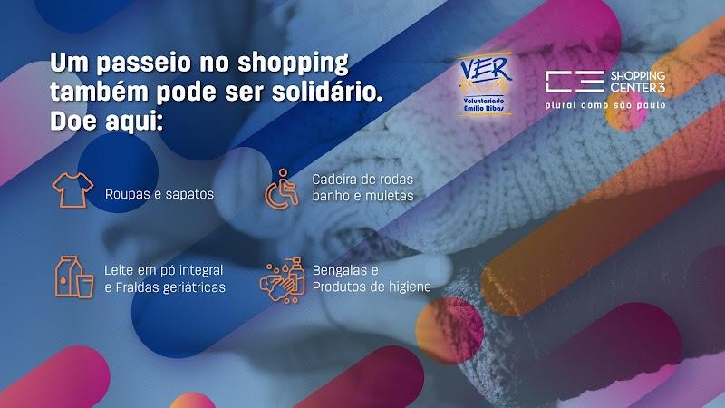 Shopping Center 3 realiza campanha solidária para pacientes do Emilio Ribas
