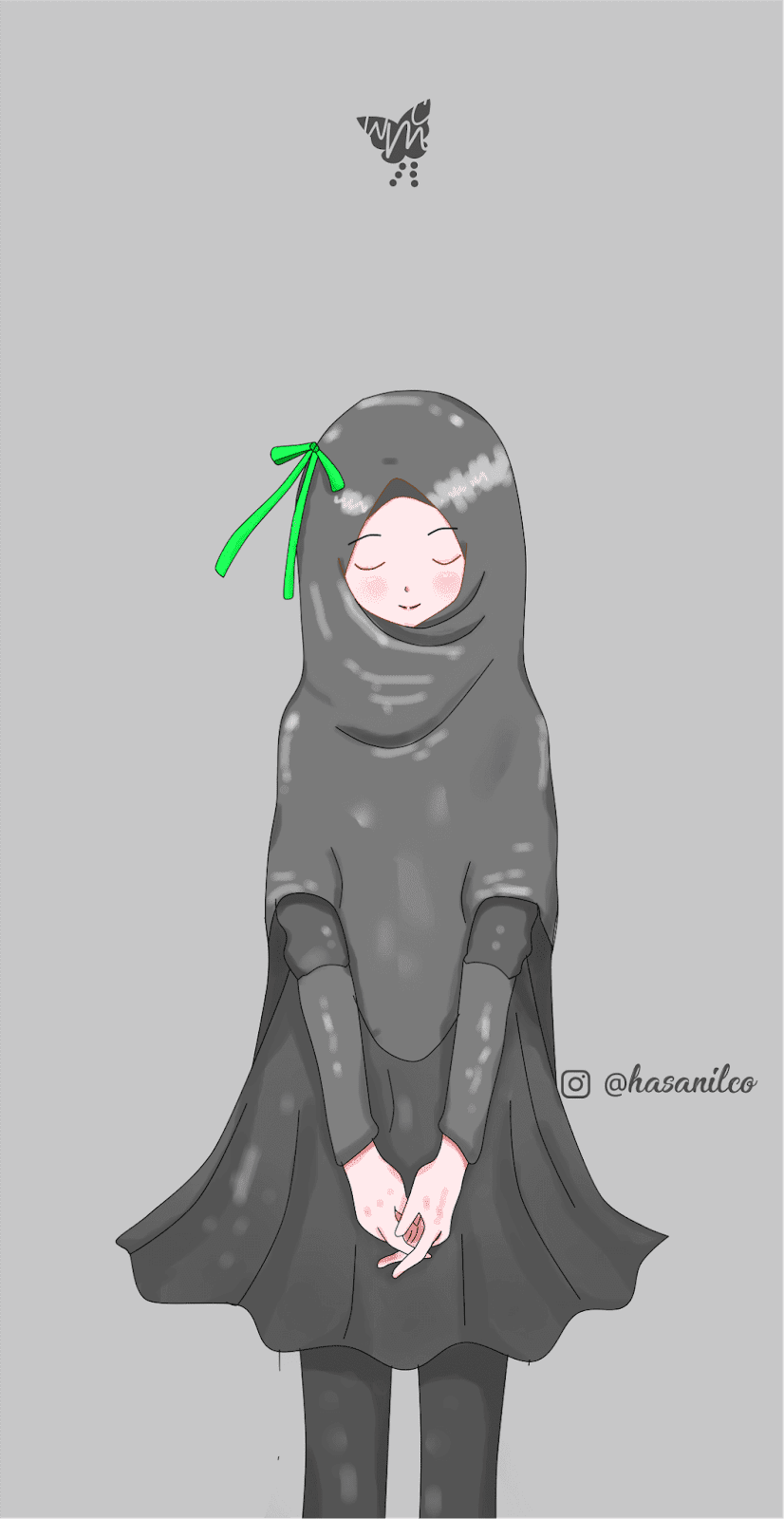 Animasi Muslimah Cantik Sigila Mencurah Pedih
