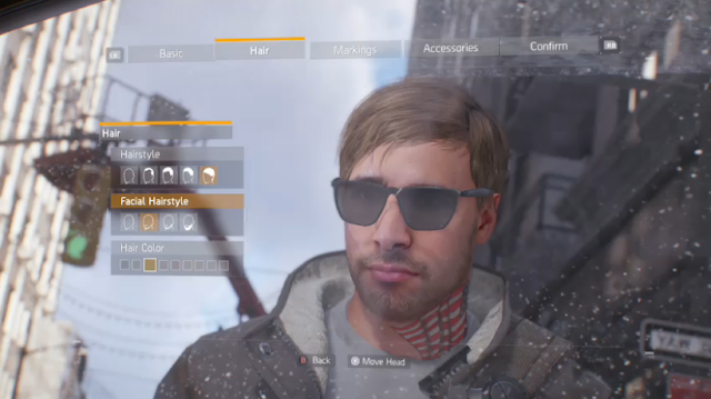 Tom Clancy's The Division character creator customizable Bandit Keith Ubisoft