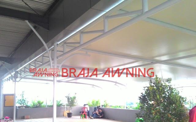 Tenda membrane untuk teras gedung