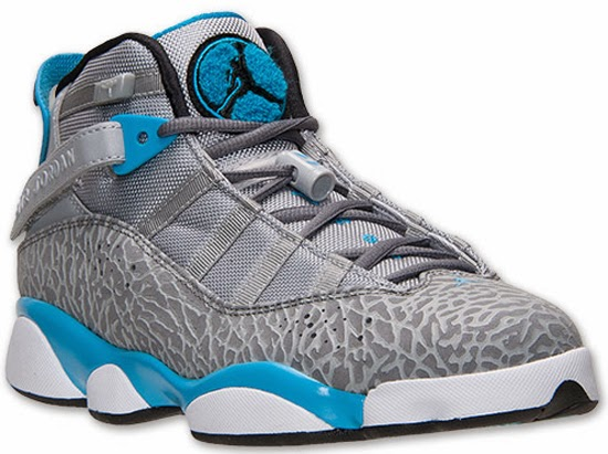 d666f6ec4ad This Jordan 6 Rings comes in a wolf grey, cool grey and dark powder blue  colorway. Featuring a grey based upper with cement print finished off by  dark ...