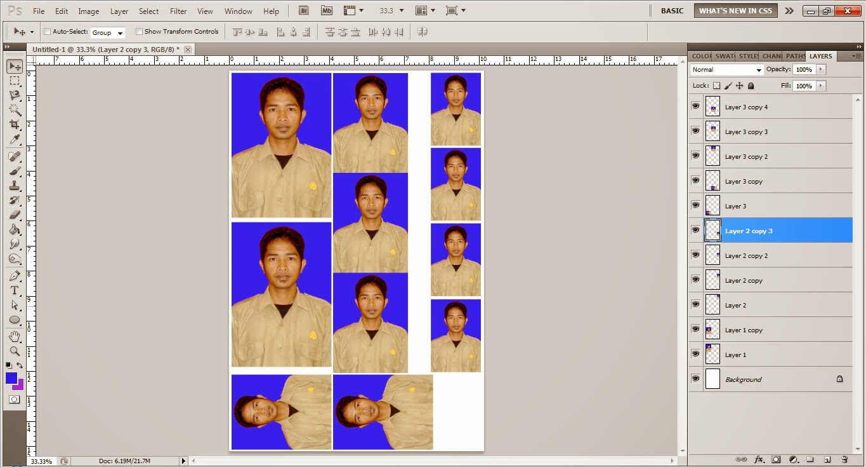 Cara Membuat Foto Ukuran 4x6, 3x4 dan 2x3 Menggunakan Photoshop