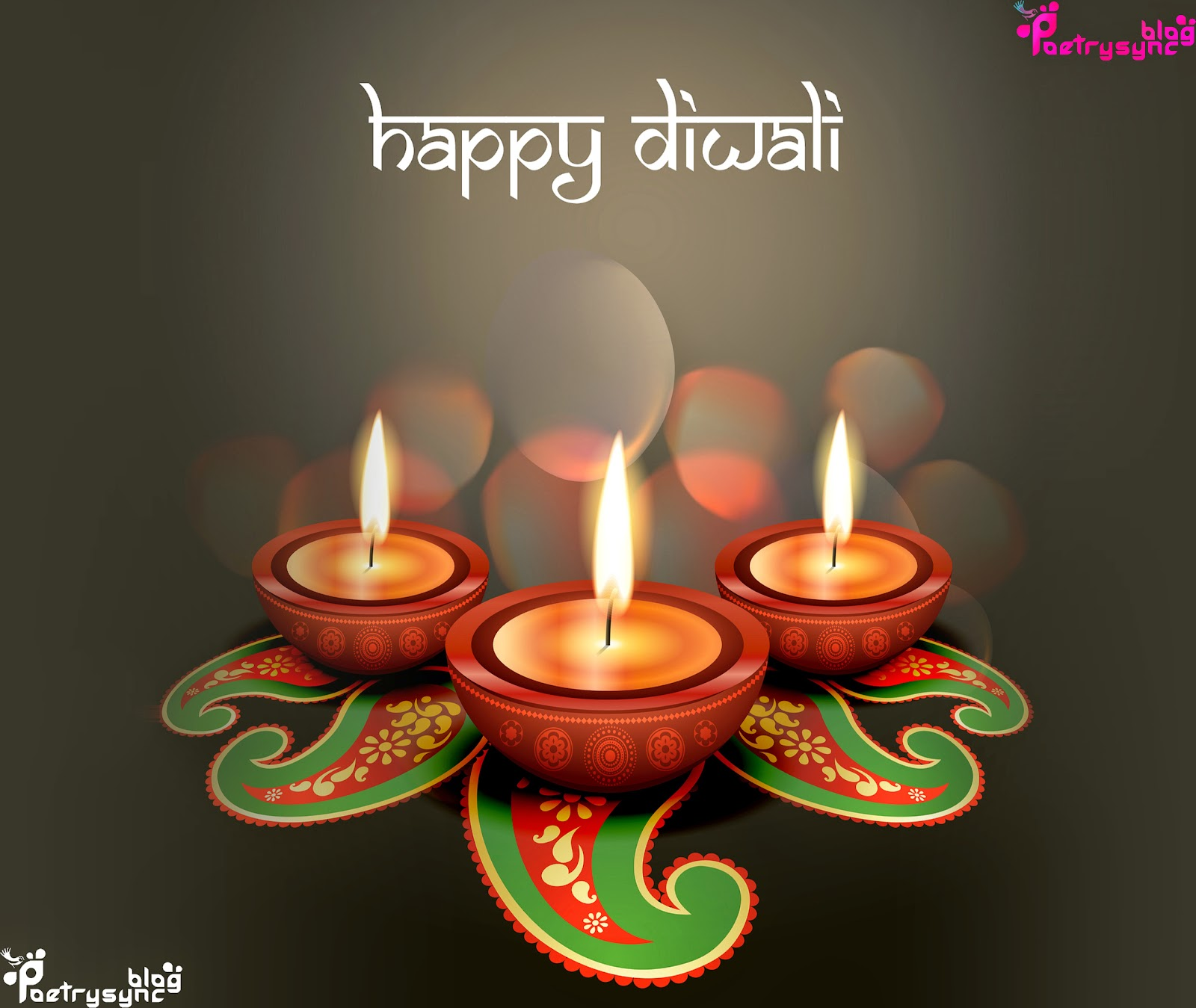 Happy Diwali Festival Wallpapers With Wishes Messages In English